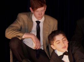 Performed with panache: The 39 Steps is worthy swansong for QE's Drama head