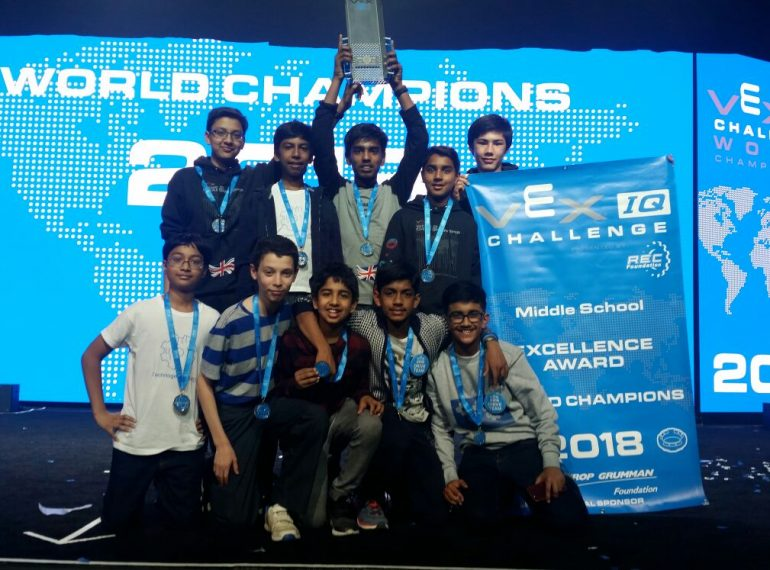 World champions! QE wins overall title at robotics competition in US