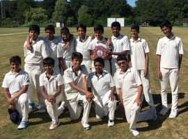 Road to glory: QE's youngest cricketers crown an excellent season with victory in the county cup final