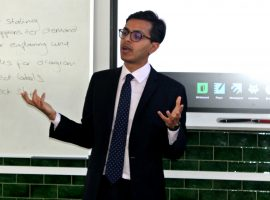 Stand up and stand out: advice to QE's budding lawyers from old boy