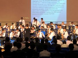 Younger boys show their musical mettle