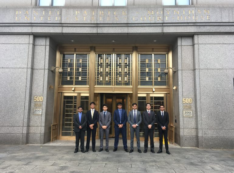 Confident, capable and with buckets of enthusiasm! A QE first as sixth-formers head to New York for top legal competition