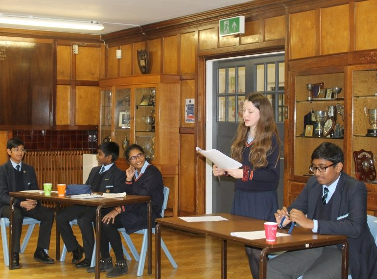 Punching above their weight: Year 8 pupils impress with their debating skills
