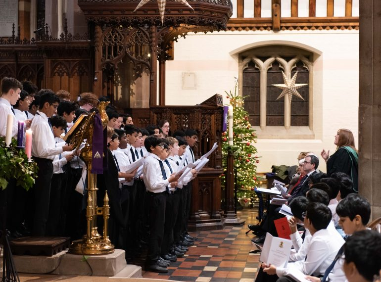 Christmas festivities and the season of goodwill at Queen Elizabeth's School
