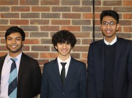 Trio of Year 13 mathematicians' Olympiad success