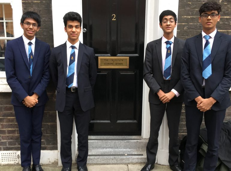 QE sixth-formers take broad approach after reaching national final of prestigious Economics competition