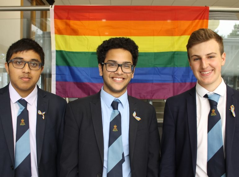 Rainbows and ribbons, PowerPoints and posters: ambassadors embrace special month with Pride