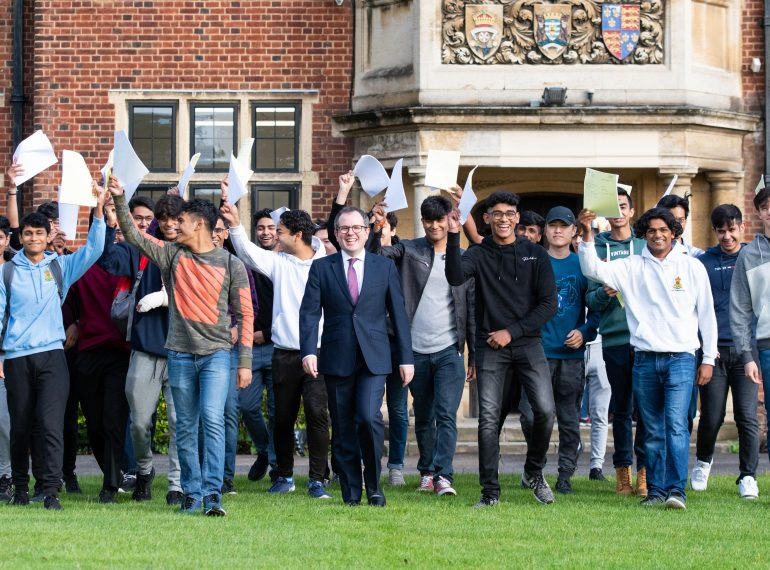 Reaping the rewards: Queen Elizabeth's School celebrates A-level success at the highest level