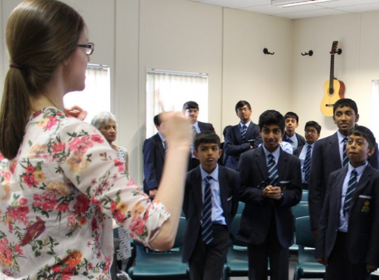 Body blows: Year 7 practise percussion without instruments