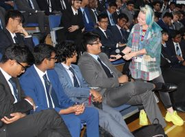 Solidarity not stereotypes: QE's senior pupils hear from LGBT activist