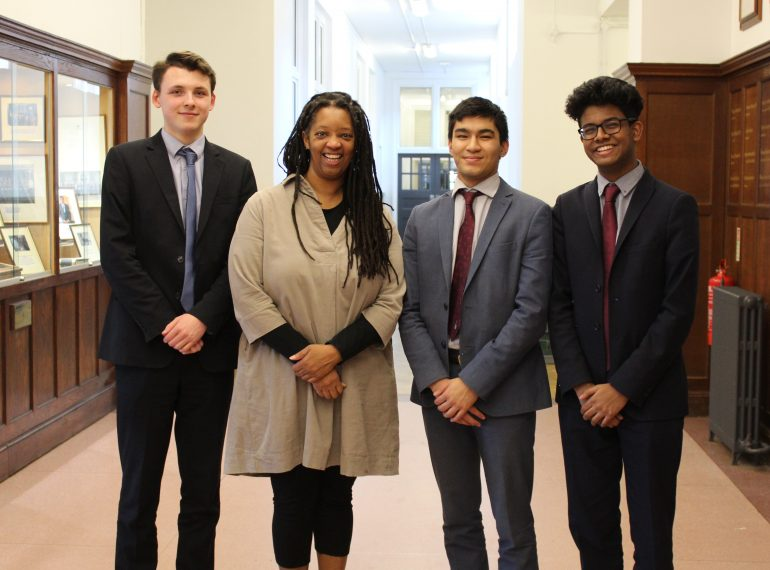 """""""If you get the grades, you belong"""": first-ever black Master of an Oxbridge college speaks to QE sixth-formers"""