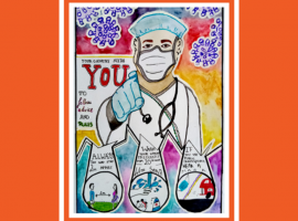 Poster child: Anik draws inspiration from a national crisis of the past to deliver a very modern message about coronavirus