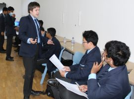 Taking the floor: workshop helps boys learn the basics of public speaking