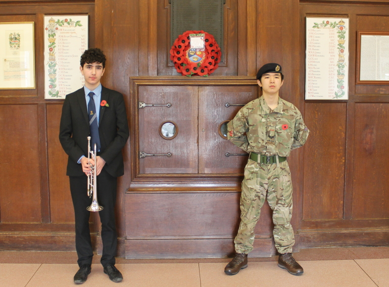 For the fallen: Remembrance Day 2020 at Queen Elizabeth's School