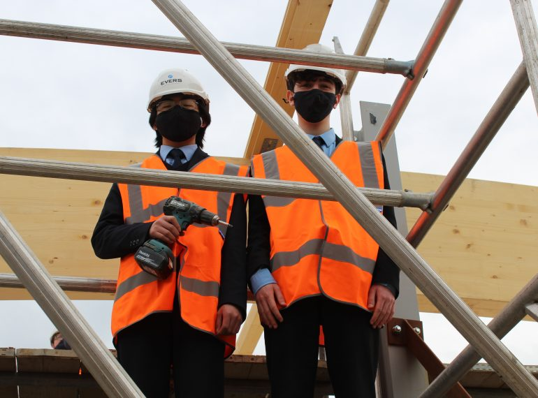 Topping out ceremony for new Music School